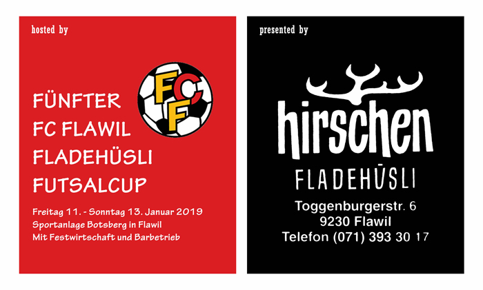 Fünfter FC Flawil Fladehüsli Futsalcup 2019